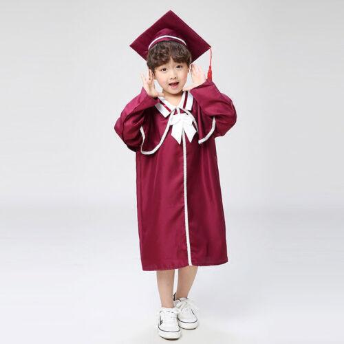 Children Boys Girl Nursery Graduation Gown Cloak/&cap Costume Photography Robe