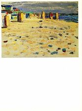 "1979 Vintage KANDINSKY ""BEACH CHAIRS IN HOLLAND"" LOVELY COLOR offset Lithograph"