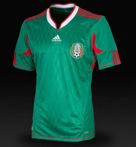 9e9c8d08098 Image is loading Adidas-Mexico-HOME-Jersey-2010-Fifa-world-cup-