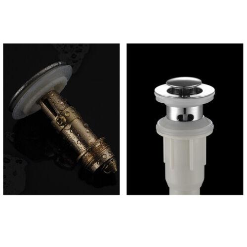 Basin Drain Kit Pop Up Flip Top Sink Waste Drainer Bottle Trap Without Spillflow