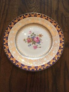 Image is loading Translucent-China-made-in-USA-9-inch-dinner- & Translucent China made in USA 9 inch dinner plate 22 kt gold ...