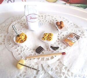 Aliments-Miniatures-Scene-Preparation-Coockies-Maison-Poupees-Vitrine-Fimo-Food