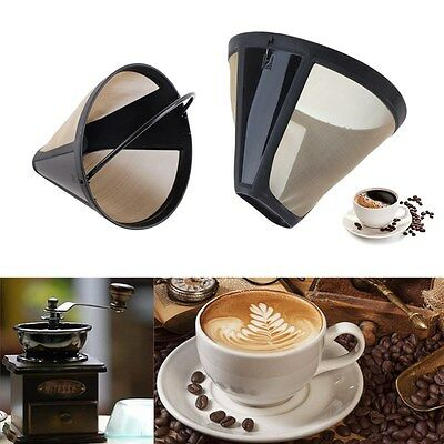Permanent Reusable #4 Cone Shape metal Coffee Filter Mesh Tone Coffee Accessories Cone Shape Coffee Filter 4-1PCs Coffee filter