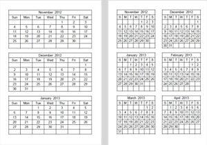 Excel Calendar Printer Templates Spreadsheet 2021 2022 Calender Ebay