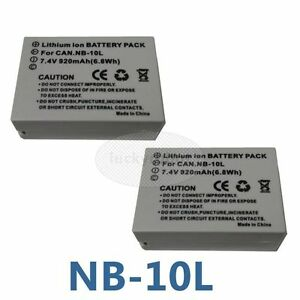 2-Pack-Batterie-Pour-CANON-G1-X-G15-G16-SX40-HS-SX50-Hs-Nb-10-L-NB10L