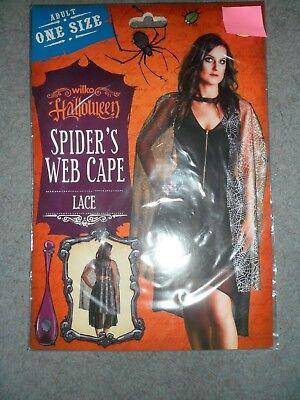 Adulto Taglia Unica Ragnatela Cape Ideale Per Halloween Fancy Dress Accessorio Nuovo- Valore Eccezionale