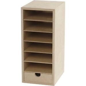 Image Is Loading A6 Paper Card Storage Filing Cabinet Mdf Wood