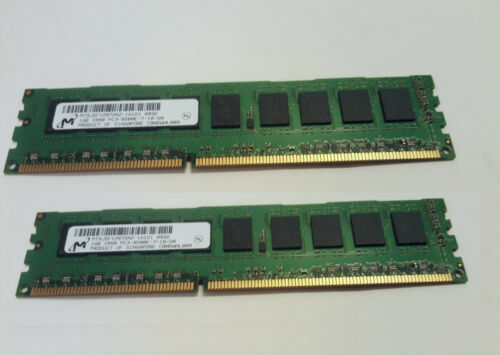Desktop Memory 2GB 1rx8 pc3-8500u-7-10-d0 2X1GB