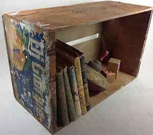 C1911 fruit crate antique primitive wood box digiorgio for Buy wooden fruit crates