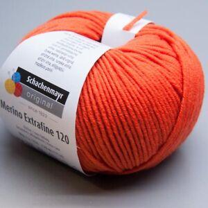 Schachenmayr-Merino-Extrafine-120-125-orange-50g-Wolle-9-90-EUR-pro-100-g