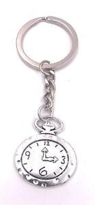 Reloj-de-Pared-Reloj-Diferencia-Llavero-Colgante-Plata-de-Metal-De