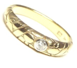585er-14kt-antiker-Brillant-Gold-Ring-Goldring-Brillantring-Damen-Brilliant