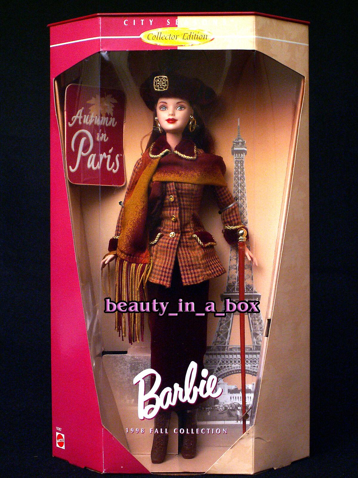 Otoño en París Ciudad temporadas Colección Muñeca Barbie