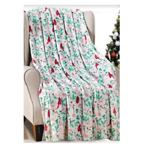NEW-Ultra-Cozy-amp-Soft-Christmas-Holiday-Cardinal-Plush-Warm-Throw-Blanket-50x60