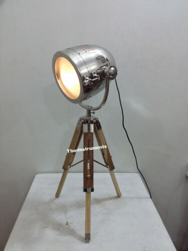 CLASSICAL PHOTOGRAPHY TABLE LAMP COLLECTIBLE SEARCH LIGHT TRIPOD CHRISTMAS GIFT