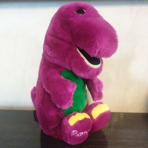 "VINTAGE Barney The Dinosaur 13"" Giocattolo Peluche Giocattolo morbido 1992 GRUPPO Lyons"