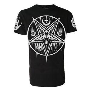 Darkside Mens Baseball T-Shirt PENTAGRAM BAPHOMET