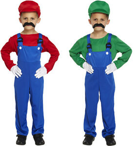 Boys-kids-SUPER-WORKMAN-Plumber-Fancy-Dress-Costume-Book-Week-Childrens-outfit