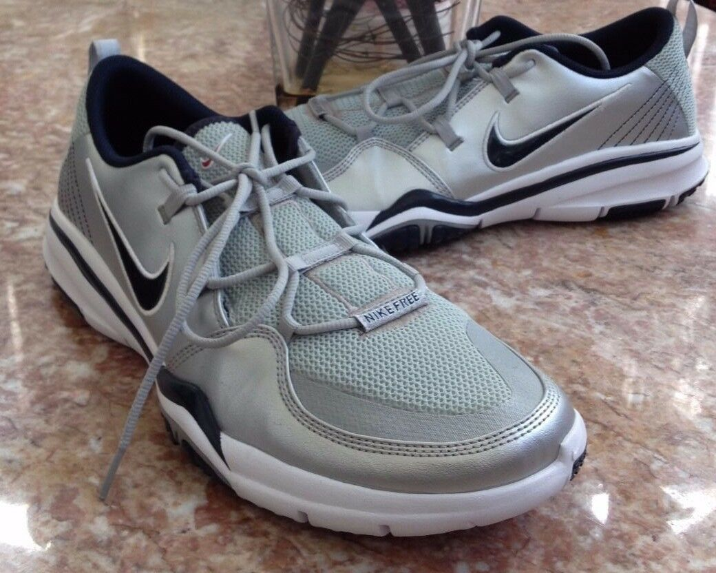 New  Nike Men Free Dynamic TR Silver 318754-043 Athletic Running Shoe Comfortable