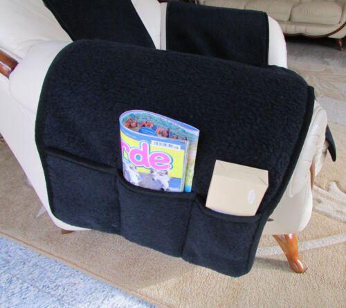 paréo fauteuil édition Merino Laine Noir avec poches Fauteuil de veille