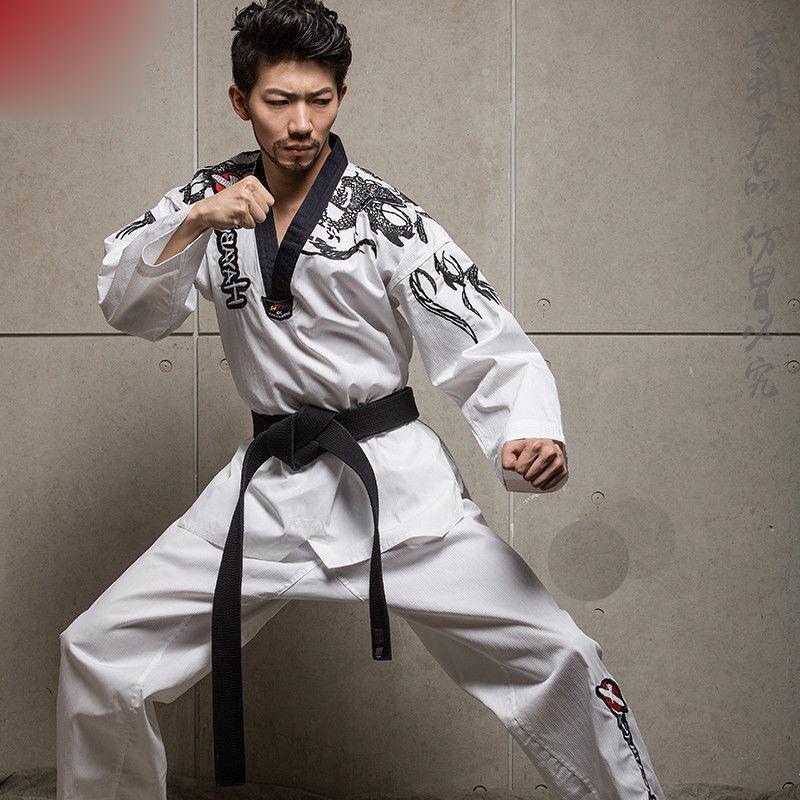 Hot Adult  Men Women Master Taekwondo Uniforms Dobok Tae Kwon Do Trainer Suit W  cheap and top quality
