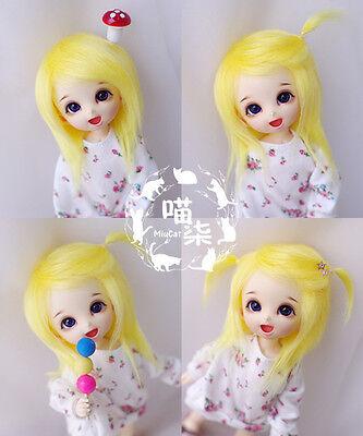 """3-4/"""" 9-10cm BJD fabric fur wig Grey short hair for AE PukiFee lati 1//12 Doll"""