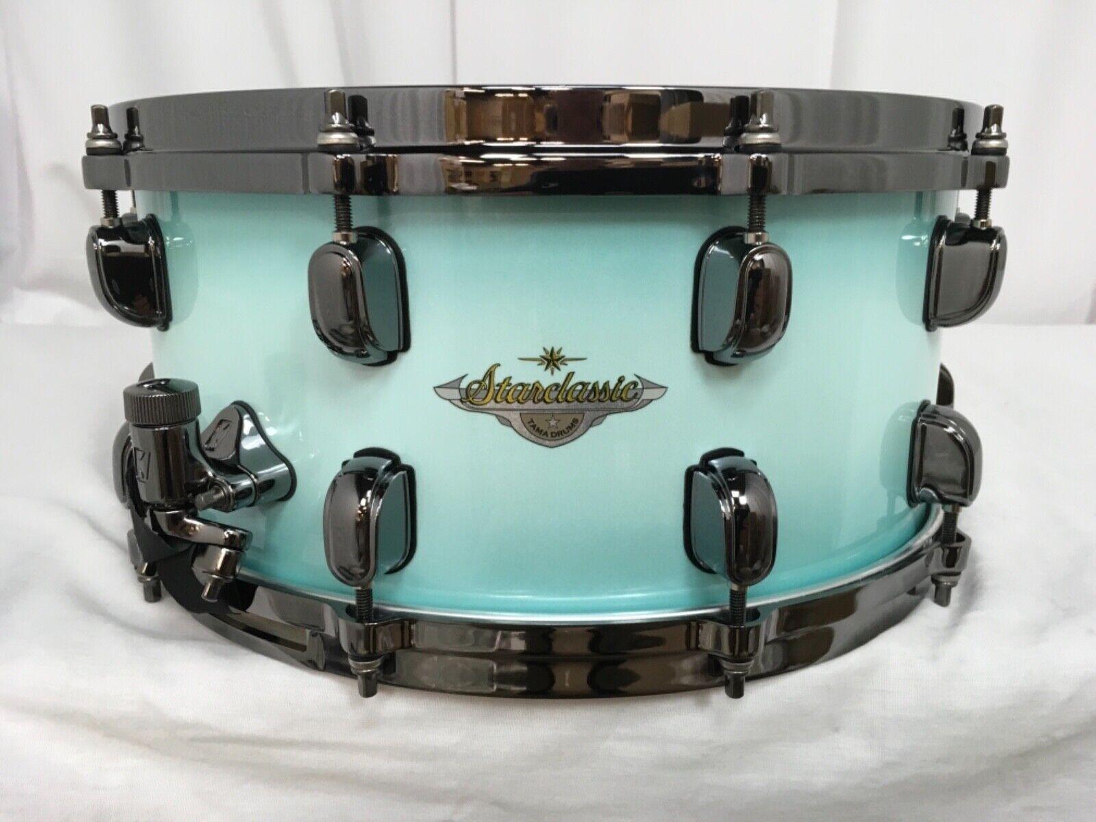 Tama Starclassic Maple 14  Dia. X 6.5  Deep Snare Drum Light Jade Burst NEW