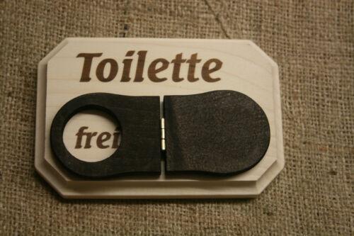 besetzt aus Holz  Badtürschild  Toilettenschild  Klotür  neu WC-Schild  frei