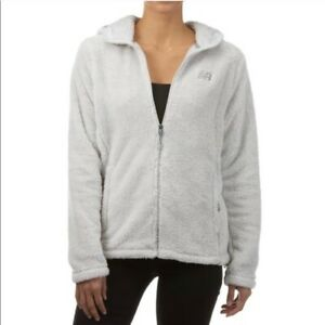New-Balance-Gray-Sherpa-Fleece-Zip-Up-Jacket-NEW-Women-039-s-Size-Medium