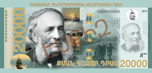 ARMENIA 1000 2000 5000 10000 20000 50000 DRAM NEW BANKNOTES SET 2018 UNC