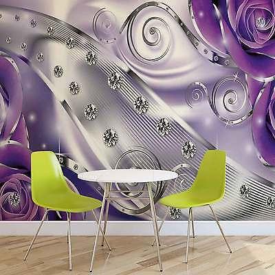 Angemessen Vlies Fototapete Lila Blumen Diamant-abstrakte Moderne Tapete Mural (2497fw) Im In- Und Ausland FüR Exquisite Verarbeitung, Gekonntes Stricken Und Elegantes Design BerüHmt Zu Sein