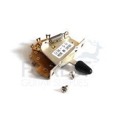 5 Way Fender Stratocaster Style switch, chrome - black tip