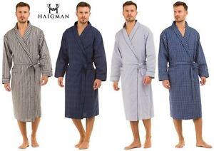Hombre-Haigman-Ligero-Popelina-100-Algodon-7396-Bata-Cruzado