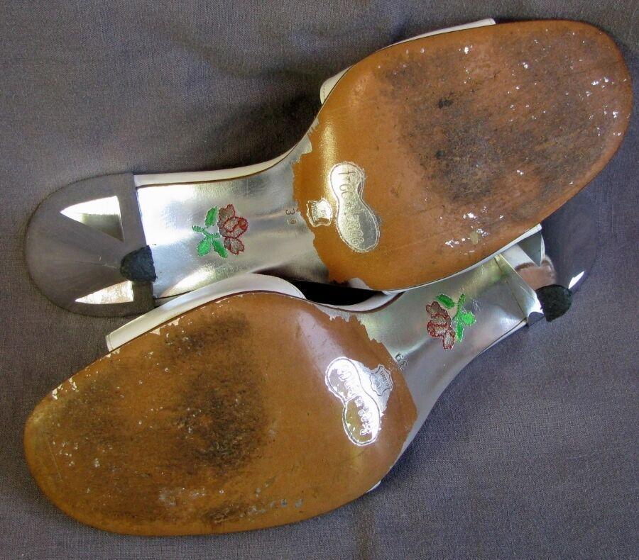 FREE LANCE - Pantoffel Absätze 11 40 cm Vollleder weiß 39 40 11 - sehr guter Zustand 1f845a