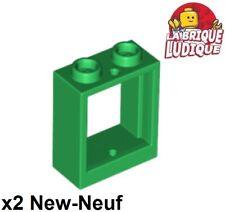 2 x LEGO® 60592//41268 City,Fenster in beige mit Einsatz bedruckt 1x2x2 Neuware
