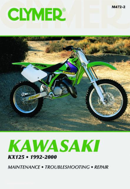 kawasaki kx 125 k2 1995 0125 cc clymer repair manual ebay rh ebay co uk 1980 Kawasaki KX 125 1987 Kx 125 Craigslist