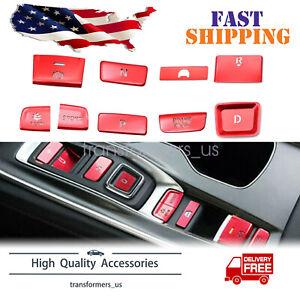 For Honda Accord 2018-2020 Red Interior-Gear Shift Box Panel Button Cover Trim