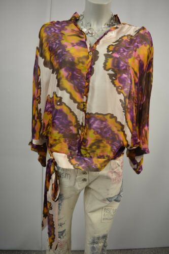 Zara Dames s Multicolor Tuniekblouse 100Zijden Top179 Eur Kimono Sleeve xBhCotQrds