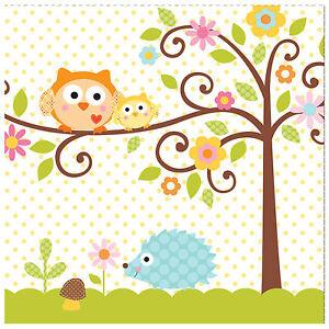 Happi Tree Baby Shower Napkins Baby Boy Baby Girl Owl