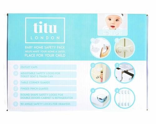 Titu London Hogar Seguridad Starter Pack Bebé impermeabilización super rápido ofrecer 24 Piezas