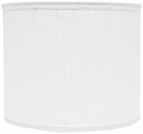 16 AHS Lighting SD1469-16PD White Linen Drum Lamp Shade with Uno