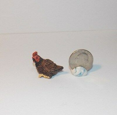 Dollhouse Miniature Bird Brown Red Bird A 1:12 inch scale H135 Dollys Gallery