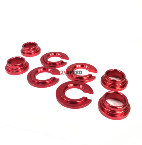 240SX S13 S14//300ZX RED ALUMINUM SUBFRAME TIE BAR BUSHING COLLAR SPACER Kit