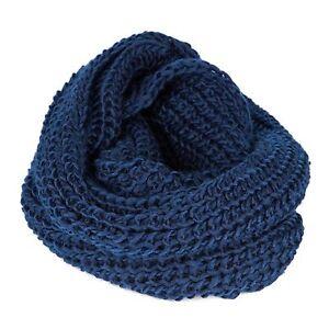 Women-Men-Winter-Warm-Infinity-Circle-Cable-Knit-Cowl-Neck-Long-Scarf-Shawl-Wrap