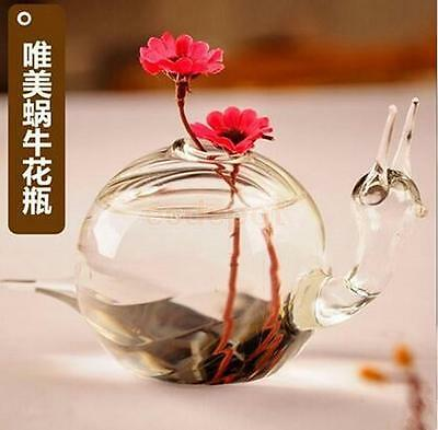 Snail Glass Flower Hydroponic Vase Landscape DIY Bottle Terrarium Container