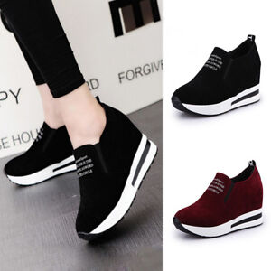 2019-Women-Casual-Wedge-Platform-Shoes-Athletic-Outdoor-Slip-On-Sports-Sneakers