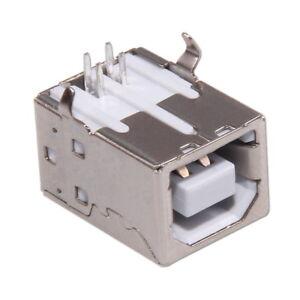 USB-Buchse-Typ-B-4-polig-90-abgewinkelt-Einbaubuchse-Printmontage-Lotmontage