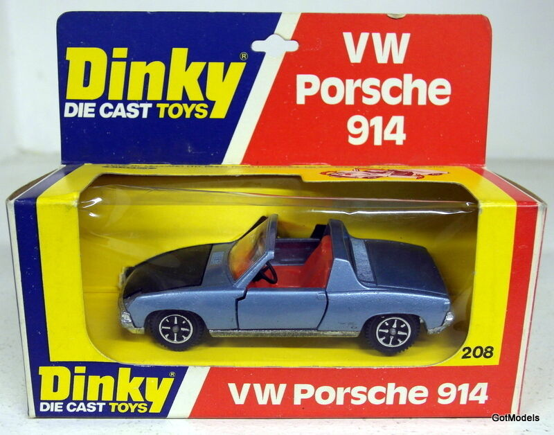 DINKY TOYS - 208 VW PORSCHE 914 + BOX - VINTAGE DIECAST MODEL CAR