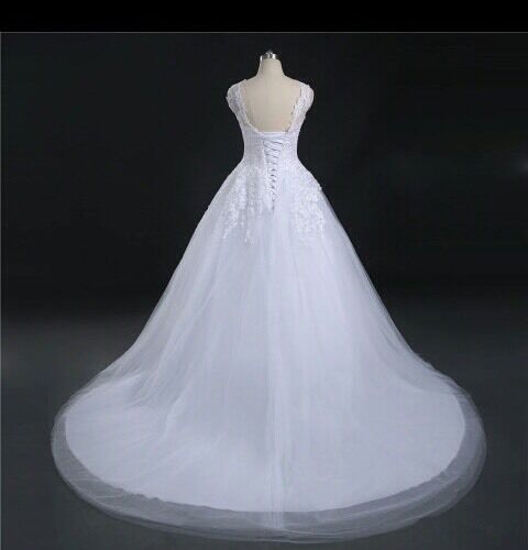 AgréAble Royaume-uni Grande Taille Blanc/ivoire Lacets Dos Robe De Mariage Nuptiale Robe De Bal Taille 6-26 ArôMe Parfumé