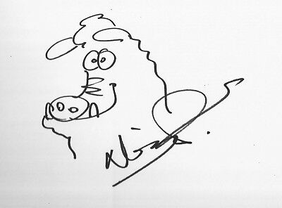 Nick Park Hand Signed 12x8 Early Man Original Artwork Sketch In Person Coa Ebay